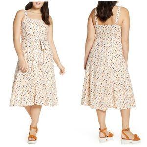 Madewell Terrazzo square neck dress size 24